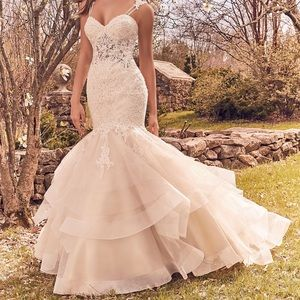 Mermaid Wedding Dress with horsehair